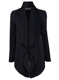 e12787d1b6 LoveSky Women Lapel Long Sleeve Solid Irregular Outerwear Sweatshirts Dark  Grey M Jackets For Women