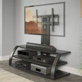 """Doesn't have to be this exact one.. But want to mount thingy in back. Malibu 55"""" TV Stand"""