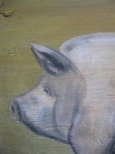 handpainted folk art pig