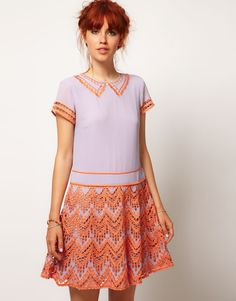 ASOS SALON Drop Waist With Scallop Cut Outs--so cute!