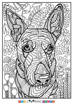 Free printable Rottweiler coloring page available for download