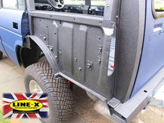 A Land Rover Discovery that has had LINE-X applied to every single nook and cranny. This Landy was stripped down like a meccano set, sprayed, then put back together. http://linexbermondsey.co.uk