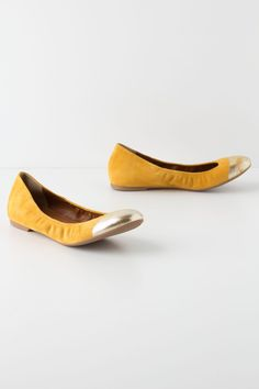 Metallic Taika Flats / Anthropologie.com {love these!}