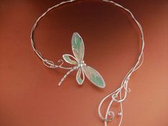Dragonfly Tales Torc/ Neckpiece - $209.99 : Medieval Bridal Fashions, Circlets, Headpieces, Necklaces and Bracelets for your Renaissance, Celtic or Elven Wedding!