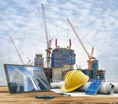 都会の建設現場 ロイヤリティフリーストックフォト