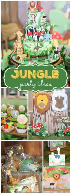 How cool is this jungle themed boy birthday party?! See more party ideas at CatchMyParty.com!