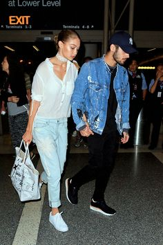 "celebritiesofcolor: "" Zayn Malik and Gigi Hadid at LAX """