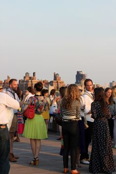Rooftop party at #altnyc Theme: pop of color!  #altpins