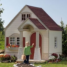 This one is more affordable! i wanna get one for my baby girl! Storybook Bungalow Playhouse from PoshTots
