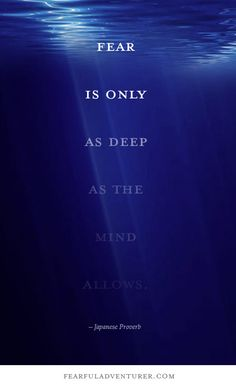 """""""Fear is only as deep as the mind allows."""" – Japanese Proverb"""