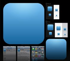 iOS App Icon Template with Smart Objects in Photoshop and automatic action-based export Script Photoshop, Tool Design, App Design, Free Design, Mobile Web Development, Ios Developer, Iphone Icon, Iphone App, Ios App Icon