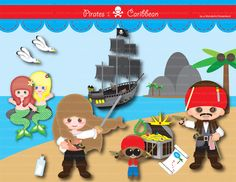 Printable Clipart Clip Art Digital PDF PNG File - Pirates from Wonderful Dreamland on TeachersNotebook.com -  (15 pages)