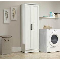 Sauder Homeplus Collection Storage Cabinet Soft White 422425 In