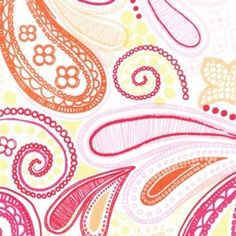 Dear Stella House Designer - Meet Me at Sunset - Doodle Paisley in Pink