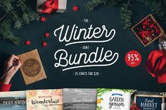 95% OFF - Winter Font Bundle  by Cultivated Mind on @creativemarket