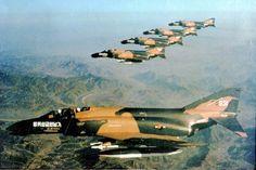Republic of Korea (South) Air Force McDonnell Douglas F-4D Phantom IIs.