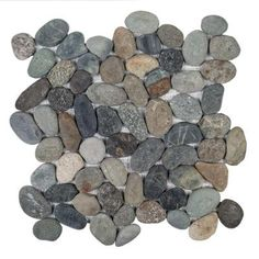 Pebble River 12 in. x 12 in. x 20 mm Pebble Mosaic Tile-99256 - The Home Depot