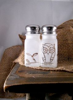 Owl salt and pepper shakers