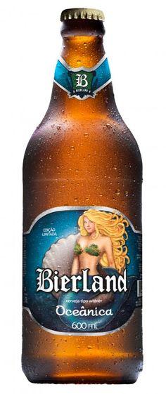Cerveja Bierland Oceânica, estilo Witbier, produzida por Bierland, Brasil. 5% ABV de álcool.