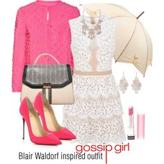 Blair Waldorf inspired outfit/GG by tvdsarahmichele on Polyvore featuring BCBGMAXAZRIA, Moschino, Christian Louboutin, Arizona, Fulton and Revlon