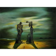 Dali - Archaeological Reminiscence of Millet's Angelus Oil Painting for sale on overArts.com