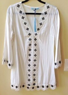 2e6081eafa730 NWT SOLITAIRE SWIM WOMEN S MULTI-COLOR 100% RAYON 3 4 SLEEVE COVER-UP SIZE  S  SolitaireSwim  CoverUp