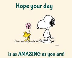 Snoopy & Woodstock- Hope you're day is as amazing as you are. ♥️