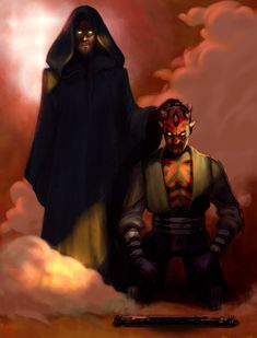 Darth Kenobi and Darth Maul Star Wars Sith, Star Wars Rebels, Clone Wars, Lego Star Wars, Star Trek, Star Wars Concept Art, Star Wars Fan Art, Star Wars Pictures, Star Wars Images
