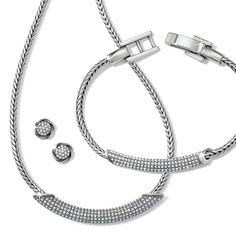 New Meridian Blaze By Brighton Just Arrived! The latest blazing star of a top collection, this design features long, curved beads covered in sparkling pave crystals