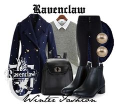 """""""Ravenclaw: Winter Fashion"""" by inthestateofmind ❤ liked on Polyvore featuring Chicwish, Bickley + MItchell, Carolee, women's clothing, women's fashion, women, female, woman, misses and juniors"""
