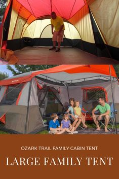 This awesome family camping tent is great for any kind of family adventure trip. This will ensure sound sleep. While you are enjoying the fun of camping in campsite or campfire with your family and friends, this tent will make sure that you sleep well in night. Make sure you get this cabin tent on your packing lists for regular travel and road trips. Family Tent, Family Camping, Tent Camping, Campsite, Family Adventure, Adventure Travel, Swing Canopy Replacement, Cabin Tent, Ozark Trail