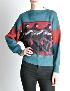 Versace Vintage 'Walk Like An Egyptian' Sweater - Amarcord Vintage Fashion