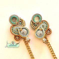 Hey, I found this really awesome Etsy listing at https://www.etsy.com/listing/184481114/gold-chain-soutache-earrings-swarovski