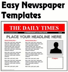 Powerpoint Newspaper Template  Game Day    Lesson