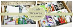 I Love You More Than Carrots: Junk Drawer No More! Love You More Than, I Love You, My Love, Junk Drawer Organizing, Organization Ideas, Creative Storage, Getting Organized, Good To Know, Drawers