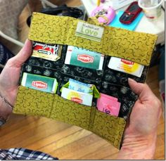 Tea wallet - folds up to fit in your handbag so you can always drink your favourite tea.