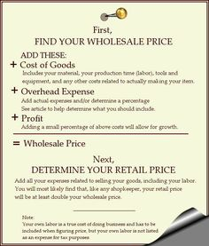 How to Price  Your Handmade Goods - Items