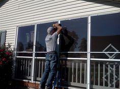 eze breeze enclosure before roll down solar screens