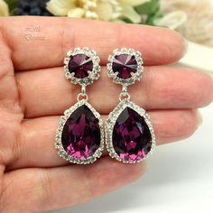 AM Amethyst Chandelier Earrings