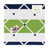 Found it at Wayfair - Navy Blue and Lime Green Stripe Memo Board