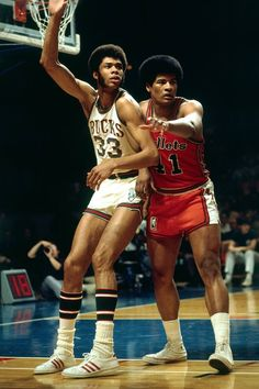 Kareem and Wes Unseld. So 1970's!