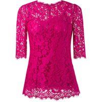 Dolce & Gabbana DOLCE & GABBANA F7U32THLMHW F0382 ??? Cotton - Rosa Stylish Tops, Trendy Tops, Stylish Dresses, Simple Dresses, Pretty Dresses, Teen Fashion Outfits, Fashion Dresses, Lace Prom Gown, Dolce E Gabbana