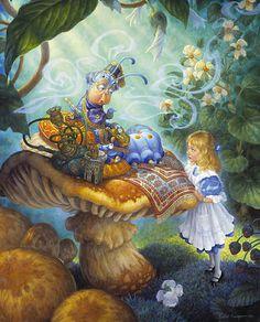 Advice from a Caterpillar ~ Alice In Wonderland by Scott Gustafson ~ children's fairytales