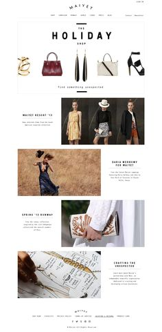 Love the layout for this Maiyet email 228f7083bb46b