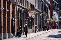 People stroll along Rue Saint Paul in Old Montreal, Quebec admiring the heritage that surrounds this street. Old Montreal, Montreal Quebec, François Arnaud, Old Port, Old Street, Places Ive Been, Photo Galleries, To Go, Street View