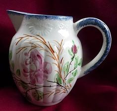 "Blue Ridge Southern Potteries Tennessee Vintage Virginia Shape Party Goer 6"" Jug~Pitcher"
