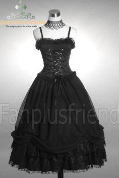 fanplusfriend - Elegant Gothic Chiffon Puffy Dress Dress