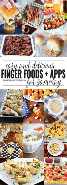 Easy and delicious finger foods and appetizers that are perfect for your game day party!