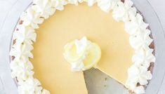 LEMON PIE RECIPE MISSING ONE SLICE Lemon Mousse Recipe Easy, Lemon Pie Recipe, Keylime Pie Recipe, Lemon Recipes, Chocolate Graham Cracker Crust, Homemade Graham Crackers, Chocolate Cheesecake Recipes, Baked Cheesecake Recipe, Summer Dessert Recipes