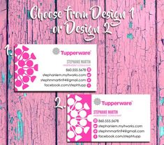 TUPPERWARE Representative Business Cards